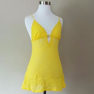 Victoria's Secret Very Sexy Yellow Lace Chemise